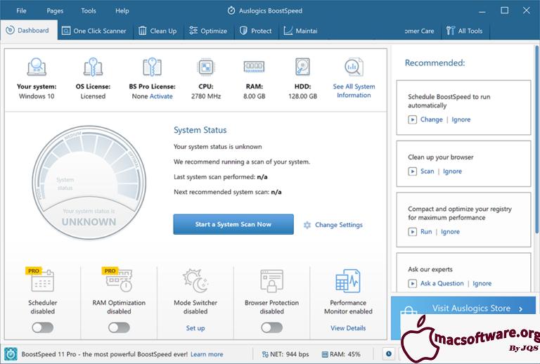 Auslogics BoostSpeed 11.5.0.1 Crack With License Key Free Download